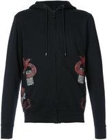 Marcelo Burlon County of Milan snake zip hoodie - men - Cotton - XS