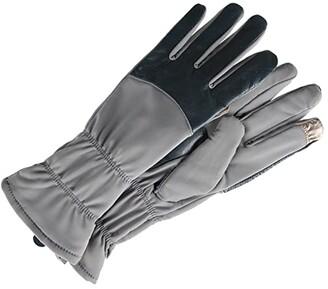Lauren Ralph Lauren Plaid Two-Button Touch Gloves (Blackwatch) Over-Mits Gloves