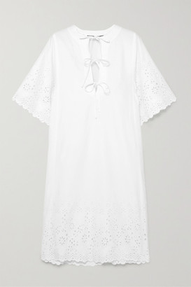 McQ Broderie Anglaise Cotton Dress - White