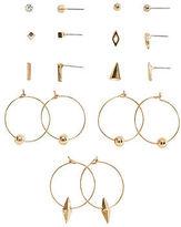 Aeropostale Womens Geometric Stud & Hoop Earring 9-Pack