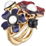 Oscar de la Renta Flower Pearl Ring