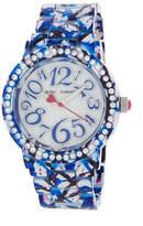 Betsey Johnson Women's Graffiti Crystal Bracelet Watch