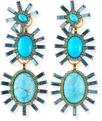 Elizabeth Cole Monet Triple-Drop Earrings
