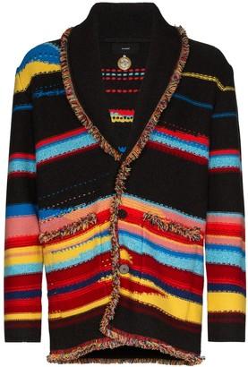 Alanui Sarape striped cashmere cardigan