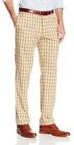 Haggar Men's Vintage Slim Fit Flat Front Wool Tartan Plaid Pant