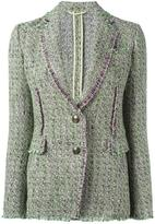 Etro tweed blazer - women - Silk/Cotton/Linen/Flax/Acetate - 46