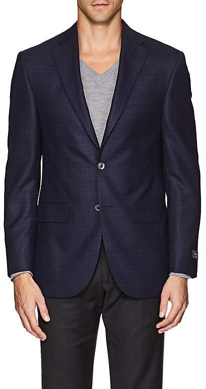 Jack Victor MEN'S PLAID WOOL TWO-BUTTON SPORTCOAT