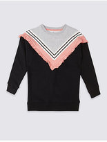 Marks and Spencer Frill Detail Sweatshirt (3-14 Years)