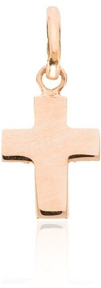 Gigi Clozeau 18kt Rose Gold Solid Cross Charm