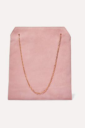 The Row Lunch Bag Small Suede Tote - Pink