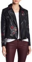 BB Dakota Rannie Faux Leather Embroidered Jacket