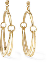 Chloé Nile Gold-tone Hoop Earrings - one size