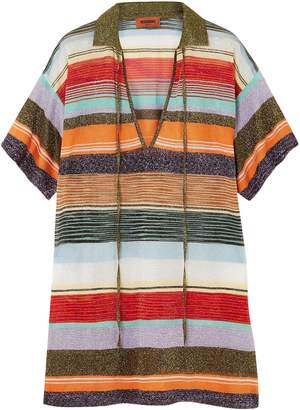 Missoni Metallic Intarsia-knit Top