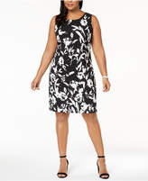 Kasper Plus Size Floral-Print Sheath Dress