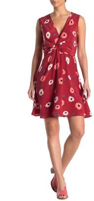 Amour Vert Elsie Salinas Floral Twist Silk Dress