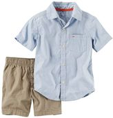 Carter's Baby Boy Striped Shirt & Solid Shorts Set