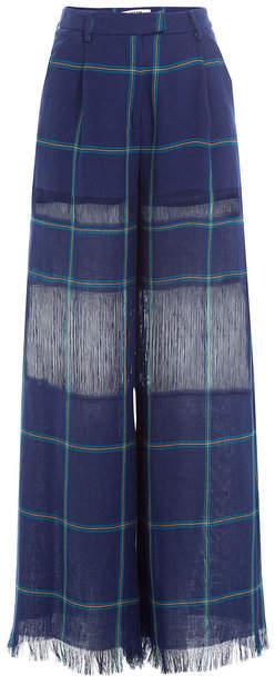 MSGM Wide Leg Linen Pants