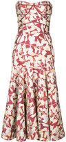 J. Mendel jacquard strapless dress - women - Lurex - 8