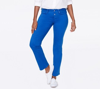 NYDJ Marilyn Ankle Jean with Mock Fly in Colored Denim