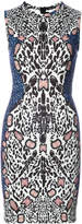 Yigal Azrouel abstract leopard print dress