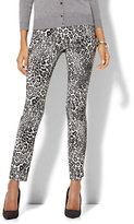 New York & Co. 7th Avenue Pant - Slim-Leg - Signature - Pull-On - Leopard Print