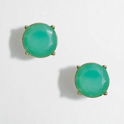 J.Crew Factory Factory neon stone stud earrings
