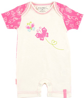 Kushies Pink & White Butterfly Organic Romper - Infant
