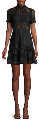 Allison New York Lace Fit--Flare Dress