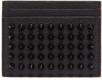 Christian Louboutin Kios Cone-stud Leather Cardholder - Mens - Black