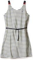 Tommy Hilfiger Girl's Dg Basic A Line Slvls Striped Dress,4