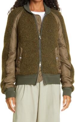 Rag & Bone Oakes Sweater Bomber Jacket