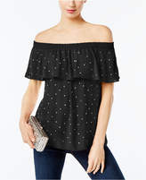 INC International Concepts Petite Embellished Off-The-Shoulder Top, Created for Macy's