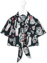 Miss Blumarine printed shirt - kids - Cotton/Spandex/Elastane - 8 yrs