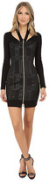 Versace Long Sleeve Zipper Front Dress