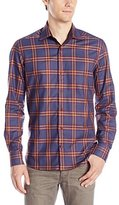 Stone Rose Men's Plaid Long Sleeve Button Down Shirt