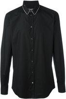 Dolce & Gabbana contrast piped collar shirt - men - Silk/Cotton - 39