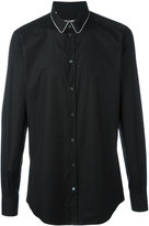 Dolce & Gabbana contrast piped collar shirt