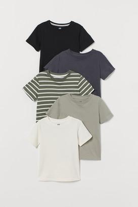 H&M 5-pack Cotton T-shirts