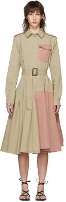 J.W.Anderson Beige Belted Shirt Dress