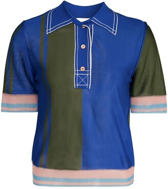 I Am Chen Silk Sheer Polo Shirt