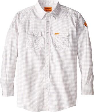 Wrangler Men's Big-Tall Flame Resistant Western Work Lightweight Woven Shirt