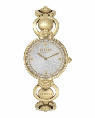 Versus By Versace Women's Victoria Harbour Gold-Plated Stainless Steel Quartz Watch Tone Strap 20 (Model: VSP331818)