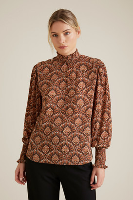 Seed Heritage Paisley Shirred Blouse