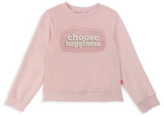 Billieblush Little Girl's Choose Happiness Sweatshirt