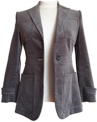 Gucci Grey Velvet Jackets