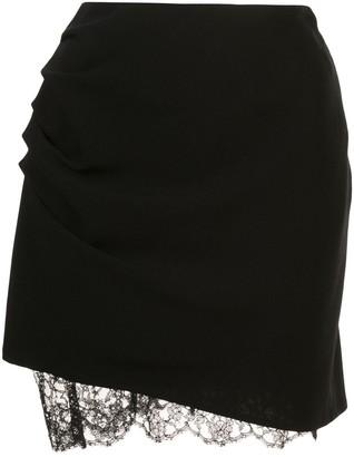 Fleur Du Mal Lace Trimmed Mini Skirt