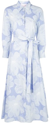 Carolina Herrera Floral Print Belted Shirt Dress