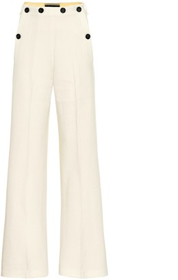Roland Mouret Palmetto wool-crepe flared pants