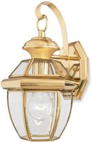 Quoizel Newbury Small 1-Light Outdoor Wall Fixture in Polished Brass