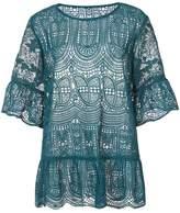 Anna Sui flowy lace blouse